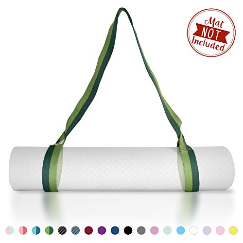 Tumaz Yoga Mat Strap  Stretch Strap amp Mat Carrier 15 Colors 2 Sizes Options with Extra Thick Durable and Comfy Delicate Texture  The Best Carrier for Yoga Mat Exercise Mat Mat NOT Included