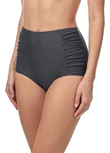 Merry Style Damen Bikinislip MS10-119 Bikinihose Bauch Weg Effekt (Graphite (9154), 36)