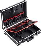 Meister Caja de herramientas vacía de 460 x 320 x 140 mm, división de compartimentos individuales, 15 bolsillos de herramientas con bandas de goma, capacidad de carga de 15 kg