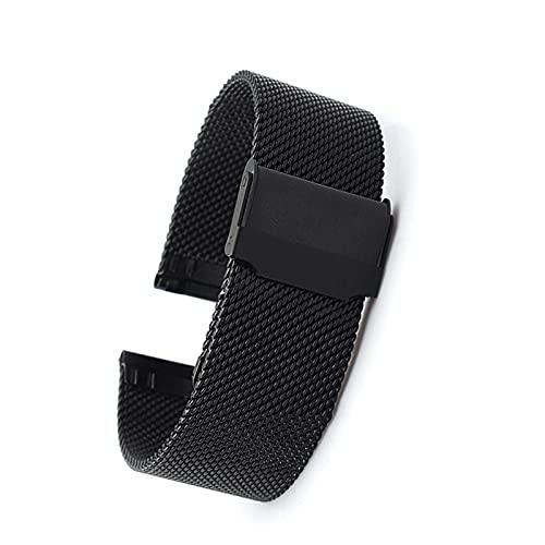 Frotox Banda de Reloj magnética para Hombres, Mujeres, Banda de Reloj de Acero Inoxidable Ajustable para Relojes clásicos y Relojes Inteligentes de 12 mm a 24 mm