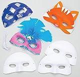 Baker Ross Lot de 8 Masques Loup Vénitien à Personnaliser - Idéal comme Accessoire pour déguisements