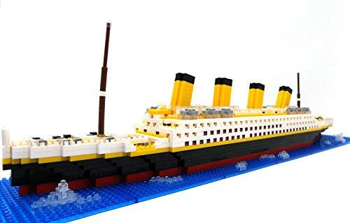 Brigamo Titanic Bausteine Schiff, 1860 Teile, 50 cm lang, Konstruktionsspielzeug