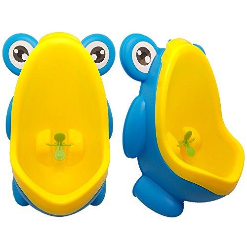 JJPRIME - Grenouille Enfants Potty Toilette Formation Enfants But But Moulin À Vent Mur Urinoir pour les garçons Pee Stand Trainer Salle de Bain (Blue Frog)