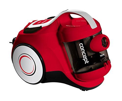 CONCEPT Hausgeräte VP5075 Zyklon-Staubsauger Minis, kompakte Abmessungen, Leistung 700 W, Behältervolumen 1,5 Liter, Geräuschpegel 75 dB, einfache Bedienung, für kleine Haushalte