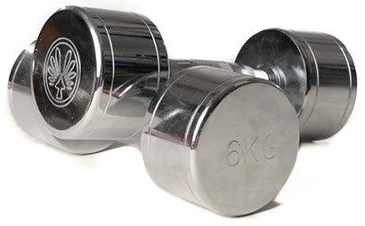 OLIVER Haltère chromé 2 x 6 kg