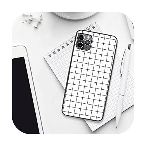 Caja del teléfono de la rejilla de la historieta de la manera de lujo para el iPhone 7 8 11 12 Pro X XS XR para Samsung A S 6 7 9plus 10plus 21s 71-a8-iPhone12PROMAX