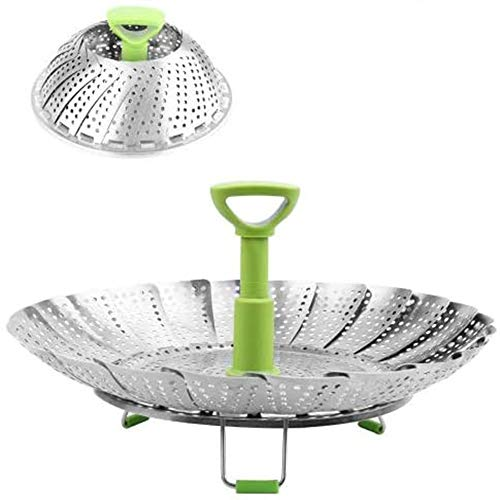 BangShou Panier Vapeur Pliable Cuiseur Cuit Vapeur en Acier Inoxydable Accessoire de Cuisine pour Cuisson de Légumes (Upgrade 11'')