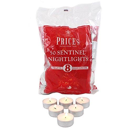 Prices Patents Candles - Candeline scaldavivande, confezione da 50