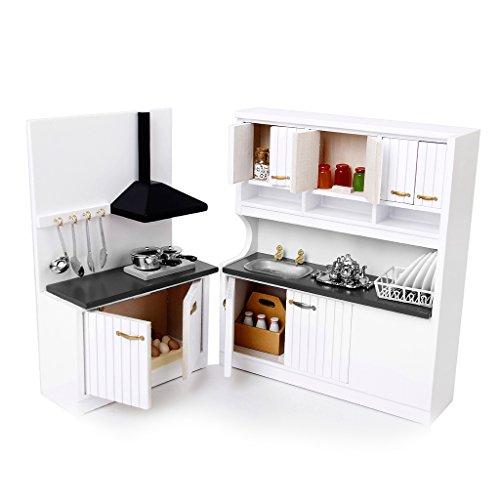 Baoblaze Dollhouse Muebles de Madera Miniatura Gabinete de Cocina de Muñecas Escala 1:12
