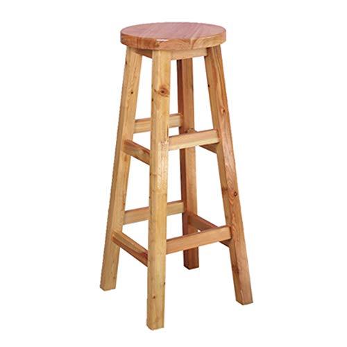 Barkruk Retro massief houten bar hoge kruk IKEA hoge stoel Home Front Desk American Style Carbonized rugleuning tafel en stoel combinatie (bruin) barkruk patio barkruk binnen-/buitenbarkruk