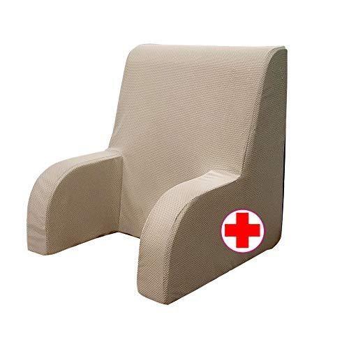 GEEMMA s.r.l. Poltrona comodone Plus, Schienale Ortopedico o Poltrona Sanitaria con Tessuto sfoderabile e Lavabile. Poltrona da Letto per Anziani o Allattamento, poggia Schiena Letto Grande
