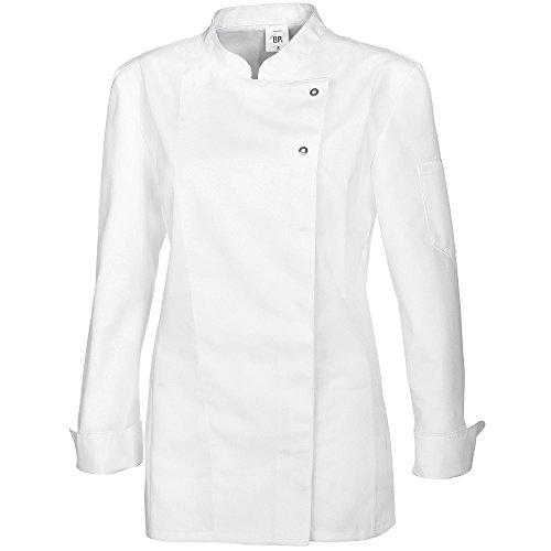 BP 1544-400-21-2XL - Chaqueta de chef para mujer, manga larga con puños, 215,00 g/m², mezcla de tejidos, color blanco, 2XL