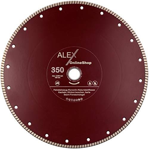 LXDIAMOND Disco de corte de diamante de 350 mm x 30 mm, para azulejos, gres porcelánico, baldosas de cerámica, piedras naturales, correa extrafina para cortes exactos de 350 mm