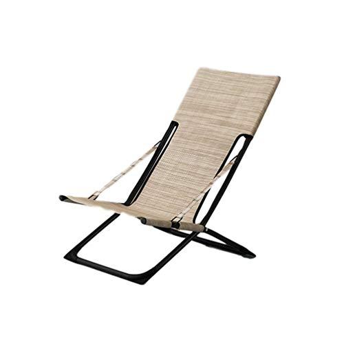 HUALI Silla Plegable Cubierta cómodo con reposapiés Ajustables Asientos Acolchados sillas reclinables Siesta Patio de Camping Balcón Soporte 350 LB-A LIULI (Color : A)