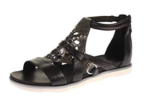 Mjus 740072-201-0001 - Damen Schuhe Sandaletten - Nero-INOX, Größe:37 EU