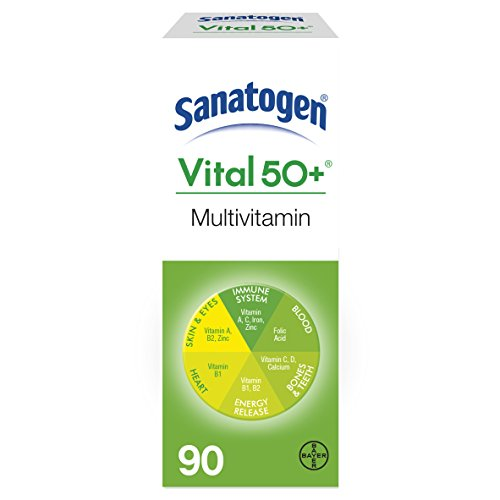 Sanatogen Vital 50+ Multi Vitamin & Mineral Supplement With Ginkgo & Ginseng Tablets 90 Tablets