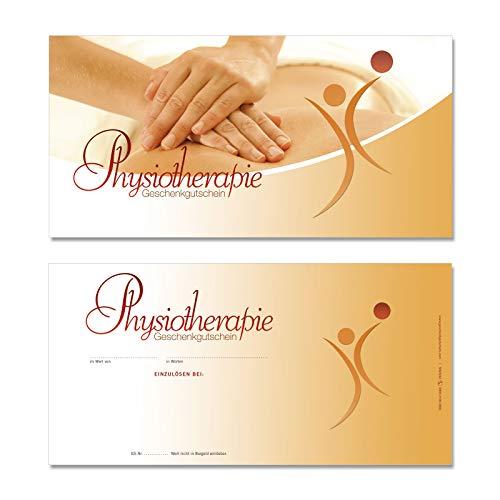 50 hochwertige Gutscheinkarten Geschenkgutscheine DIN-lang. Gutscheine für Physio Physiotherapie. Vorderseite hochglänzend. MA9242