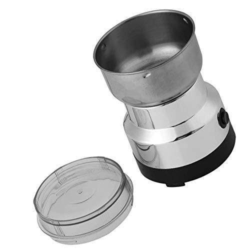 GOTOTOP - Molinillo de café eléctrico (100 - 200 W, triturador de semillas de lino, nuez, pimienta, especias, semillas de café y otros con cuchillas de acero inoxidable, 160 x 93 mm