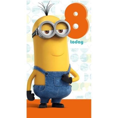 8Heute Minions Geburtstag Karte