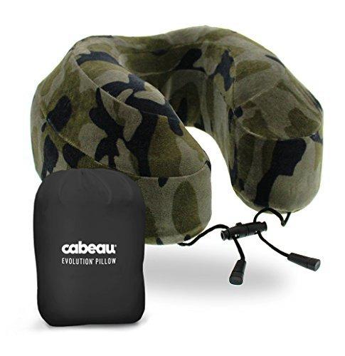 Cabeau Evolution Reisekissen mit Memory Foam–Die besten Nackenkissen mit Kopf-und Nackenunterstützung rundum, camouflage, Für Erwachsene
