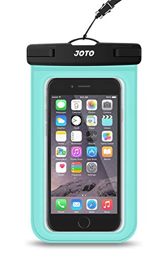 "JOTO Universal Waterproof Pouch Cellphone Dry Bag Case for iPhone 11 Pro Max Xs Max XR X 8 7 6S Plus SE, Galaxy S20 Ultra S20+ S10 Plus S10e S9 Plus S8/Note 10+ 9, Pixel 4 XL up to 6.9"" -Green"