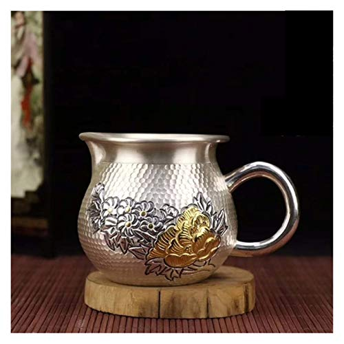 Ceramic Tea Set Sterling Silver Tea Things Cup Coffee Hot Water Household Teaware Pot for Adults (Color : Fair Mug*1 184g)