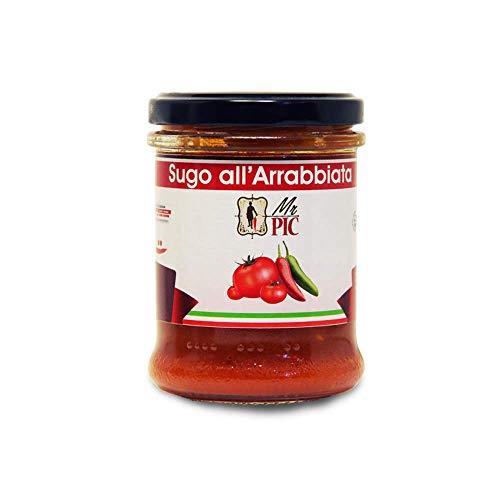 Sugo all'Arrabbiata (180 g) - Mr PIC: il Peperoncino Toscano di alta qualità - Carmazzi: la più ampia linea di prodotti piccanti in Italia