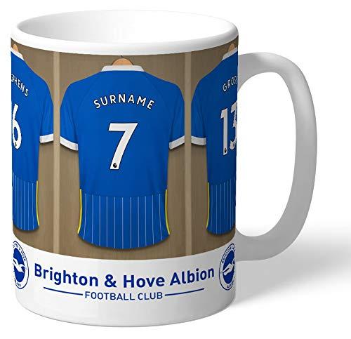 Brighton & Hove Albion Personalised FC Dressing Room Shirts Mug