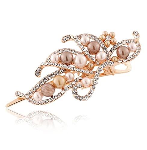 MENGHUA Rhinestone perla horquilla popular horquilla Duckbill clip accesorios para el cabello
