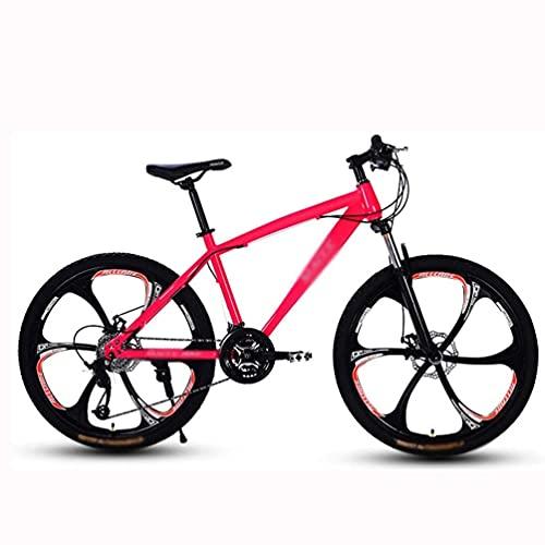 HUAQINEI Mountain Bike, Beach Snowmobile Bicycle, Double Disc Brake Bicycles, Aluminum Alloy Wheels Bicycle MTB adjustable seat Man Woman General Purpose,Blue,21 speed