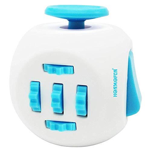 Honmofun ADHD Fidget Cube Fidget Twisty Cube Fidget Cube Spinner Fidget Cube Fidget Cube Keychain Fidget Toys Fidget Cube Fidget Toy (Blue)