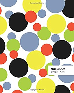 Invention Notebook: (Bright Edition) Fun Christmas notebook 192 ruled/lined pages (8x10 inches / 20.3x25.4 cm / Large Jotter)
