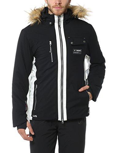 Ultrasport Herren Ski-/winterjacke Snowfox, Schwarz, XXL