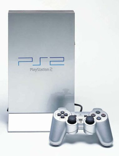 Playstation 2 - PS2 Konsole, silber