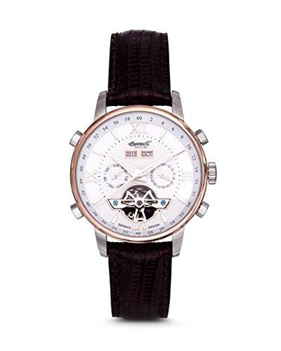 Ingersoll IN4503WH - Reloj para Hombres, Correa de Cuero Color marrón