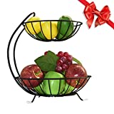 DLILI Organizador de encimera de Cocina, 2 Niveles, Soporte de Frutas, Canasta...