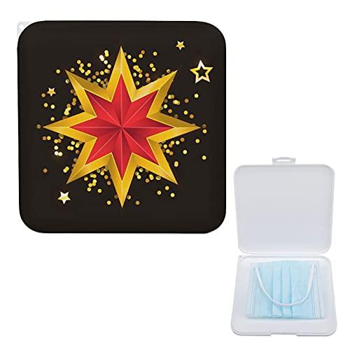Yumansis Portable Storage Box Bag Flat Plastic Box Storage Clips Organizer To Prevent Jewelry En Contamination Estrella De Oro 13cmx13cm