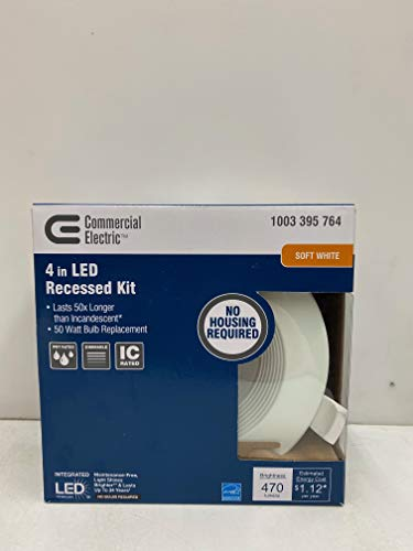 Commercial Electric 4 in. LED Recessed Kit - Soft White