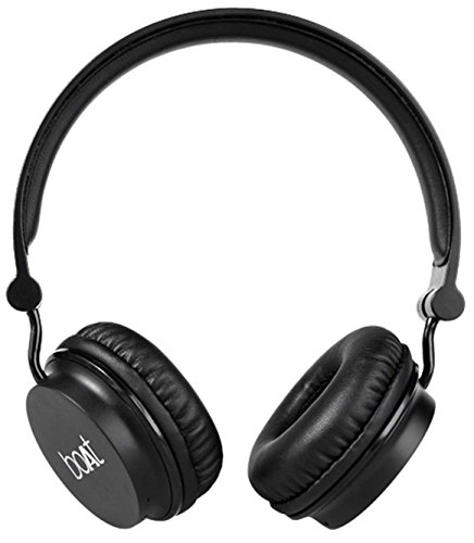 Boat Rockerz 400 On-Ear Bluetooth Headphone (Black)
