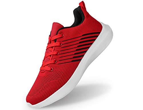 IYVW Laufschuhe Turnschuhe für Herren Damen Atmungsaktiv Sportschuhe Outdoor Gym Straßenlaufschuhe Leichtgewichts-Sneaker