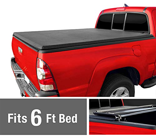 Soft Tri-Fold Truck Bed Tonneau Cover for 1982-2013 Ford Ranger; 1994-2011 Mazda B-Series Pickup | Styleside 6' Bed