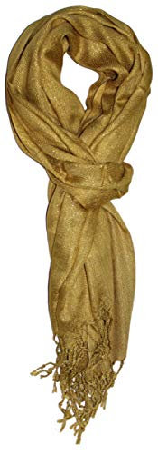 Ted and Jack - Hollywood Dreams Sparkling Metallic Scarf (Festive Gold)