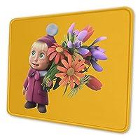 オフィス ホーム用 キーボードパッド ゲーム アニメのマウスパッド ゲーミングマウスパッド 防水 滑り止めゴムベースマウスパッド マルチコードマウスパッド仕事マーシャと熊 (1)