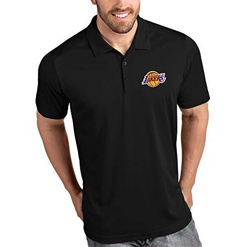 Polo Hommes d'affaires Lapel T-Shirt De Los Angeles Lakers Outdoor Casual Manches Mi-Longues S-3XL Black-L