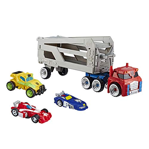 Transformers Playskool Heroes Rescue Bots Academy Road Rescue Team Trailer 4-Pack Converting Toy Robots Collectible Action Figures, Kids Ages 3 and Up (Amazon Exclusive)