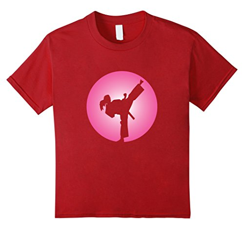 Kids Girl Martial Arts T Shirt 12 Cranberry