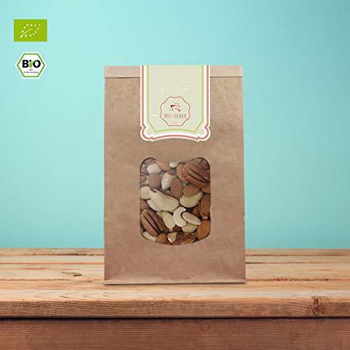 süssundclever.de® Bio Nussmischung | Mandel-Paranuss | 1 kg | mit Cashewkernen | plastikfrei und...