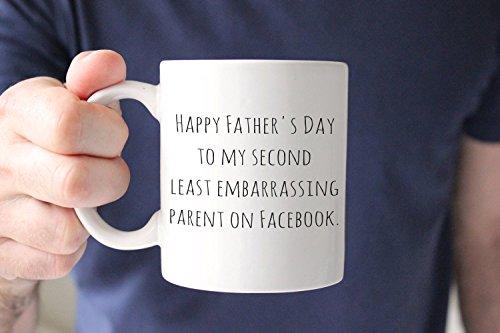 Vatertagsgeschenk, lustiges Vatertagsgeschenk von Tochter, lustige Tasse, Vatertagsgeschenk, Kaffeetasse für Eltern auf Facebook