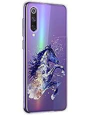Oihxse Compatible con Xiaomi Mi 9 Pro 5G Funda Suave Gel TPU Silicona Cristal Transparente Carcasa Acuarela Animal Pintado Patrón Protectora Estuche Bumper Caso Case (B6)