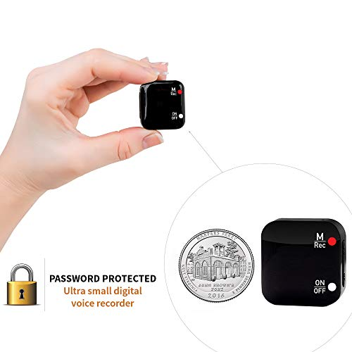 Mini Voice-Activated Recorder - 286 Hours Recordings Capacity - Sound Detection Sensor - More Than 20 Hours Battery Life - Password Protection - 2020 Upgrade